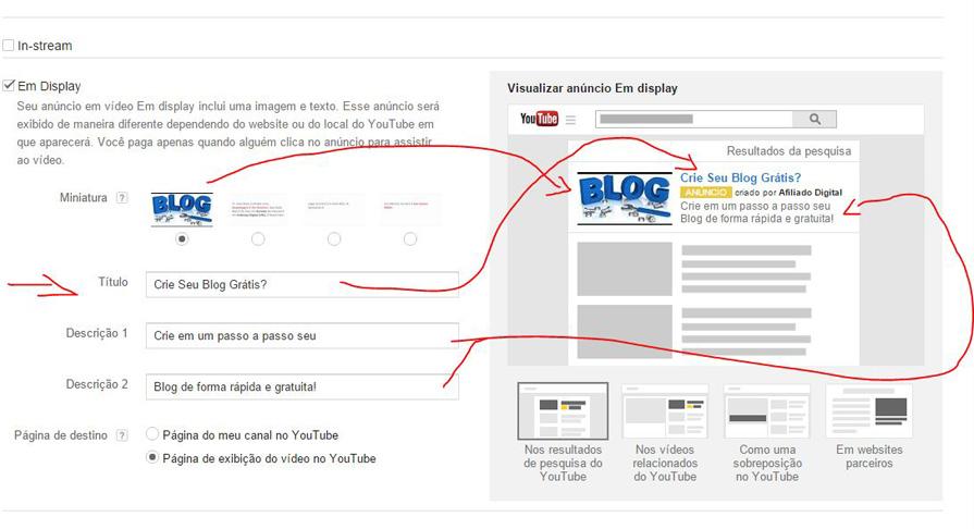 vendas online-exemplo de anúncio yt