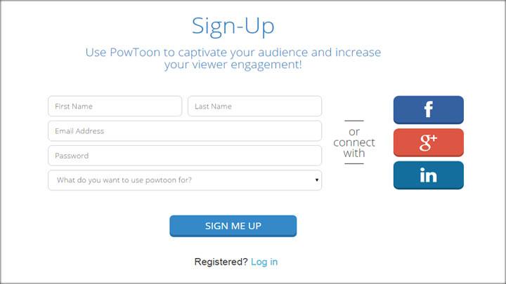 criar videos animados - inscrição powtoon