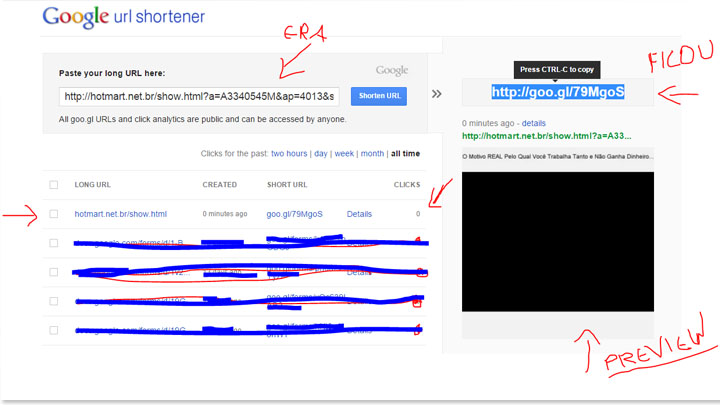 ferramentas do google - google shortener