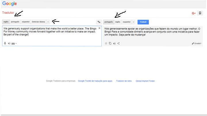 ferramentas do google - google translation