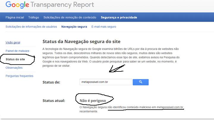 ferramentas do google - google transparency report