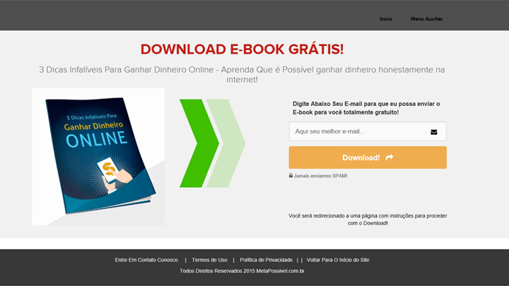 pagina de captura padrão - nova - como criar um negocio online