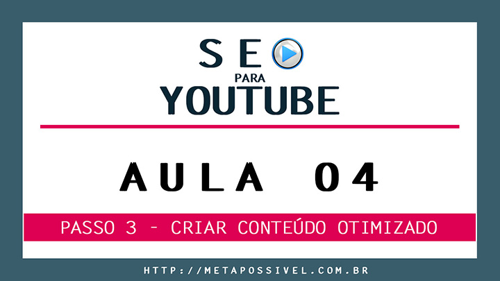 seo para vídeos do youtube - aula 4