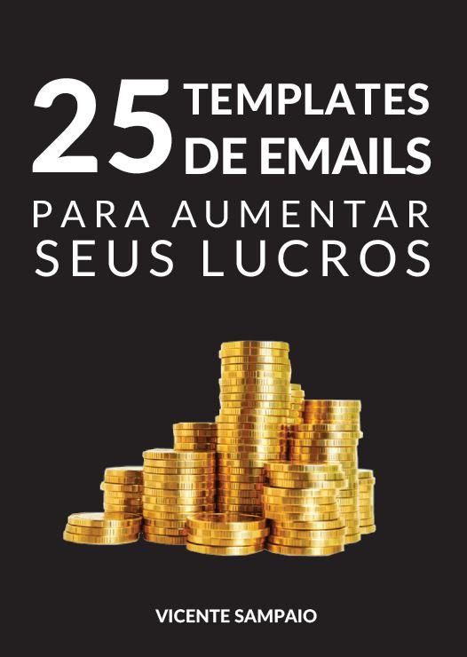 capa ebook 25 templates de emails para aumentar seus lucros