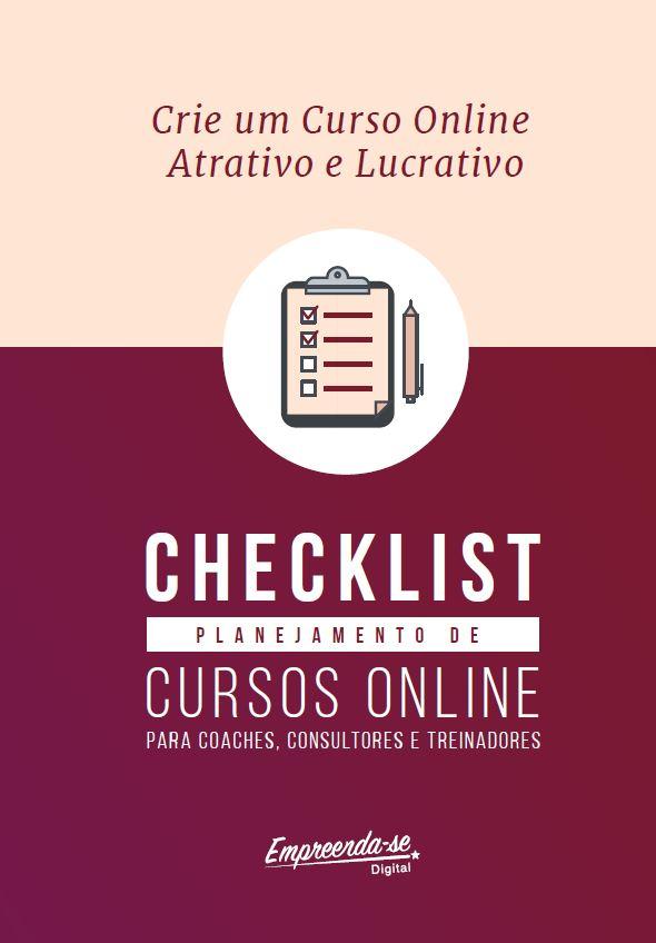 capa ebook checklist planejamento de cursos online