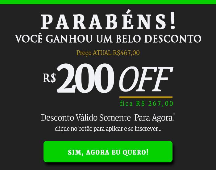 baner com desconto de 200 reais para curso triple-x